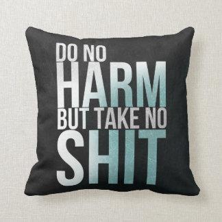 Funny wisdom quote art pillow Typography