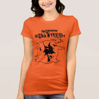 Funny Witch Broomstick World Halloween Typography T-Shirt