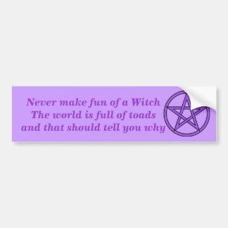 Funny Witch Bumper Sticker