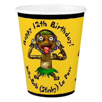 Funny Witch Doctor Tiki Party - Personalized Paper Cup
