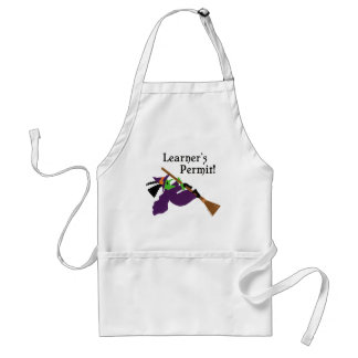 Funny Witch Flying Standard Apron