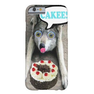 Funny Wolf Looking At A Cake Iphone Case