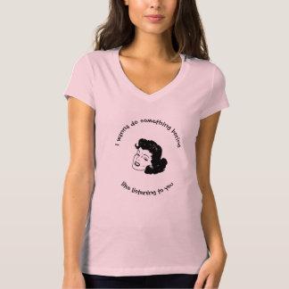 Funny Women's Bella Jersey V-Neck T-Shirt