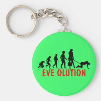 Funny women's evolution keychain