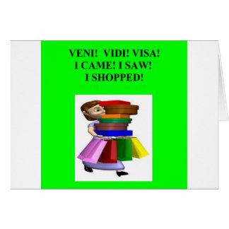 funny women's shopping joke cards