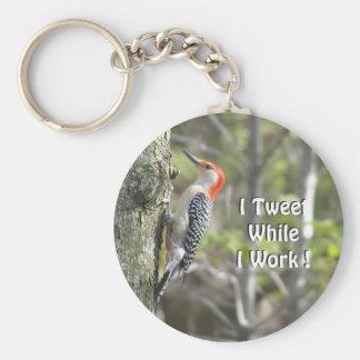 Funny Woodpecker   Original Working Tweeter Keychain