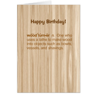 Funny Woodturner Definition Woodturning Birthday Card