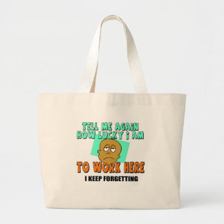 Funny Work T-shirts Gifts Canvas Bag