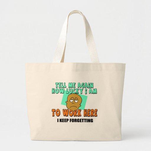 Funny work t shirts gifts jumbo tote bag zazzle for Jumbo t shirt bags