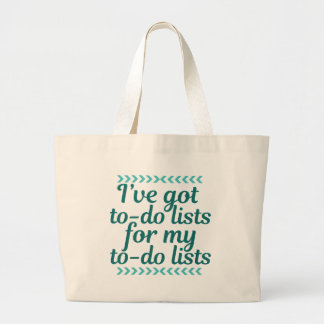 Funny Workaholic Large Tote Bag
