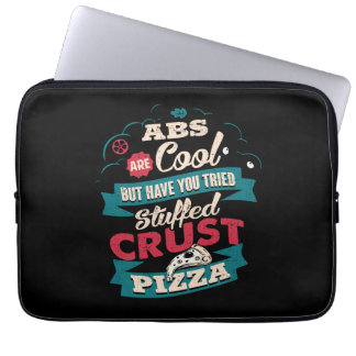 Funny Workout Humor, Abs vs Pizza, Bulking Novelty Laptop Sleeve