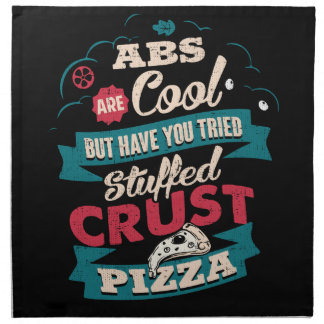 Funny Workout Humor, Abs vs Pizza, Bulking Novelty Napkin