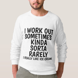 Funny workout t-Shirts and tank tops, ICE CREAM