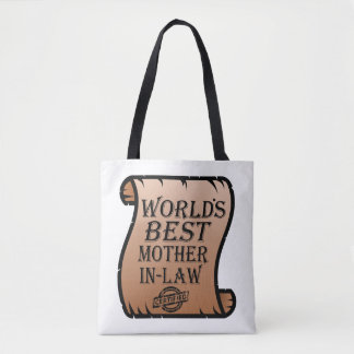 Funny Worlds Best Mother-in-law Certificate Tote Bag