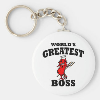 Funny World's Greatest Bos Keychain