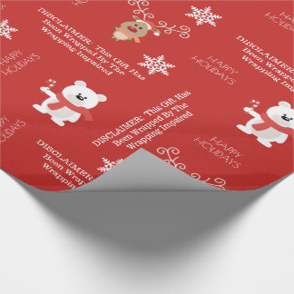 "Funny ""Wrapping Impaired"" Holiday Wrapping Paper"