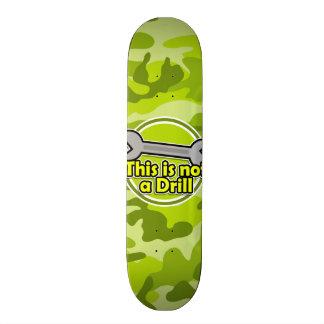 Funny Wrench bright green camo camouflage Skateboard Decks