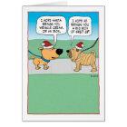 Funny Wrinkly Dog Christmas Card