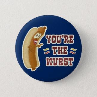 Funny Wurst Bratwurst Oktoberfest Humor 2 Inch Round Button