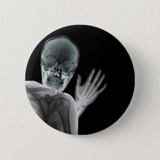 Funny Xray Photobomb 2 Inch Round Button