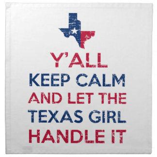 Funny Y'all Texan tees Napkin