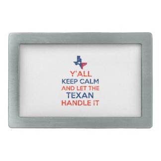 Funny Y'all Texan tees Rectangular Belt Buckles
