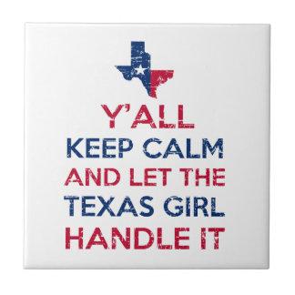Funny Y'all Texan tees Tile