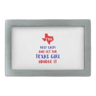 Funny Y'all Texas Girl Tees Belt Buckles