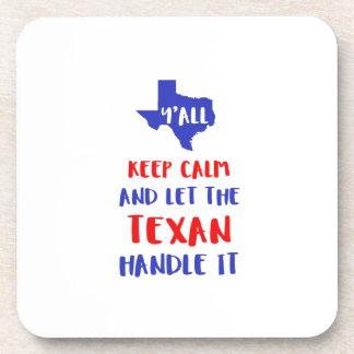 Funny Y'all Texas Girl Tees Coaster