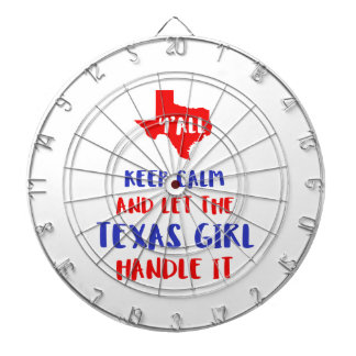 Funny Y'all Texas Girl Tees Dartboard
