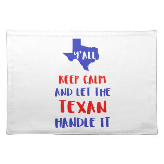Funny Y'all Texas Girl Tees Placemat