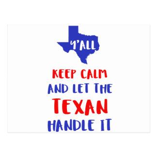 Funny Y'all Texas Girl Tees Postcard