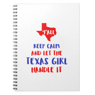 Funny Y'all Texas Girl Tees Spiral Notebook