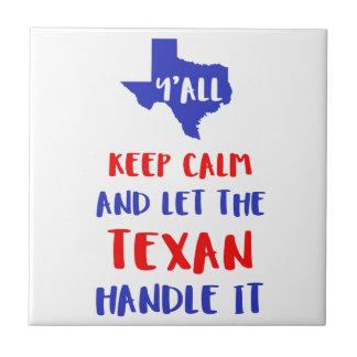 Funny Y'all Texas Girl Tees Tile