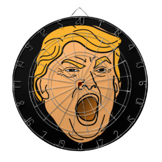Funny Yelling Angry Donald Trump Face Dartboard