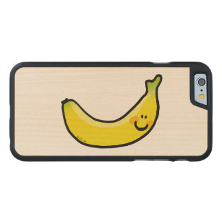 Funny yellow banana carved maple iPhone 6 case