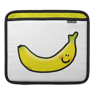 Funny yellow banana iPad sleeve