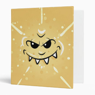 Funny Yellow Face with Sneaky Smile 3 Ring Binder
