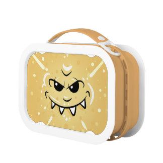 Funny Yellow Face with Sneaky Smile Lunch Box