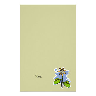 Funny Yellow Flower Personalized Stationery