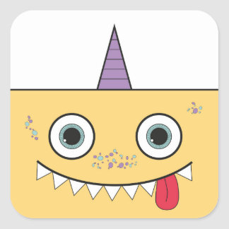 Funny Yellow Monster Stickers