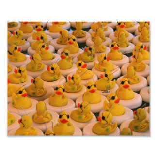 Funny Yellow Rubber Ducks 10x8 Print Art Photo