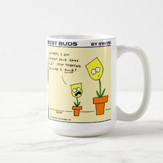 Funny Yellow Tulips Best Buds Gardening Cartoon Coffee Mug