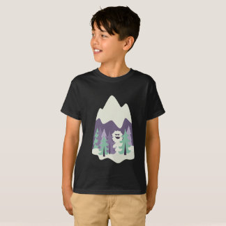 Funny Yeti in the Forest T-Shirt