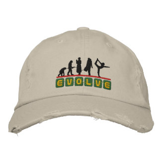 Funny Yoga Evolve Embroidered Cap Embroidered Baseball Caps