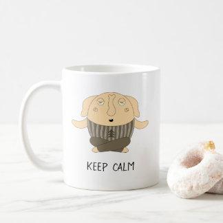 Funny yogi elephant wearing Christmas sweather Coffee Mug