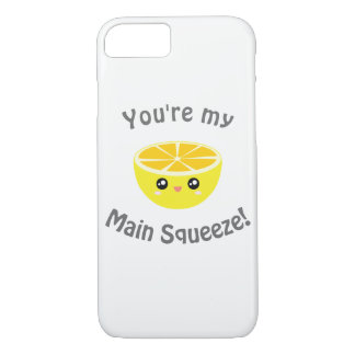 Funny You Are My Main Squeeze Kawaii Lemon Humor Case-Mate iPhone Case