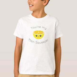 Funny You Are My Main Squeeze Kawaii Lemon Humor T-Shirt