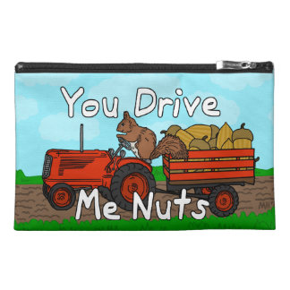 Funny You Drive Me Nuts Squirrel Pun Travel Accessories Bag