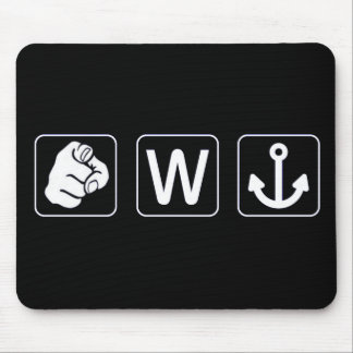 Funny You W Anchor Mousepad / Mouse Mat